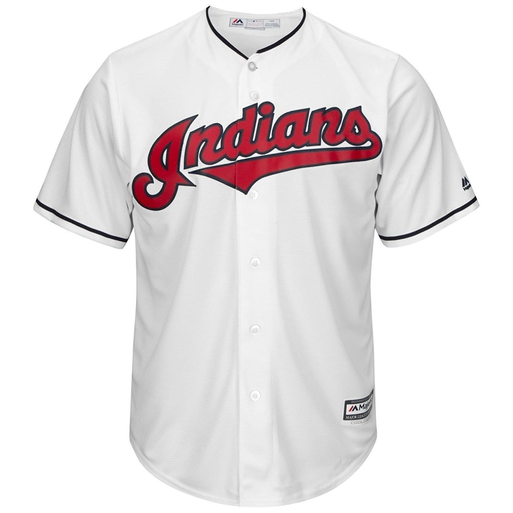 new style 54580 e5dcc MLB Cleveland Indians Cool Base Home Jersey
