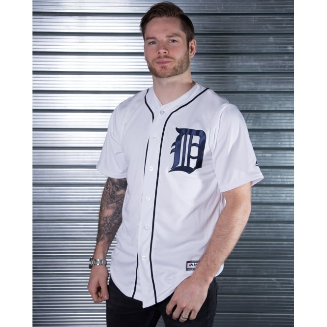 Majestic Athletic MLB Detroit Tigers White Cool Base Jersey