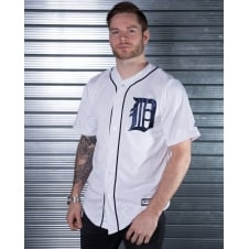 MLB Detroit Tigers White Cool Base Jersey