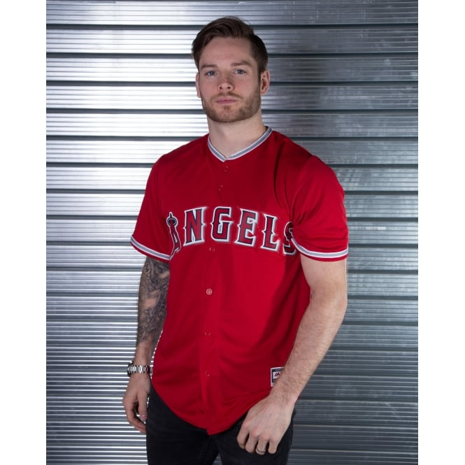 Majestic Athletic MLB Los Angeles Angels Of Anaheim Red Cool Base Jersey