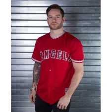 MLB Los Angeles Angels Of Anaheim Red Cool Base Jersey