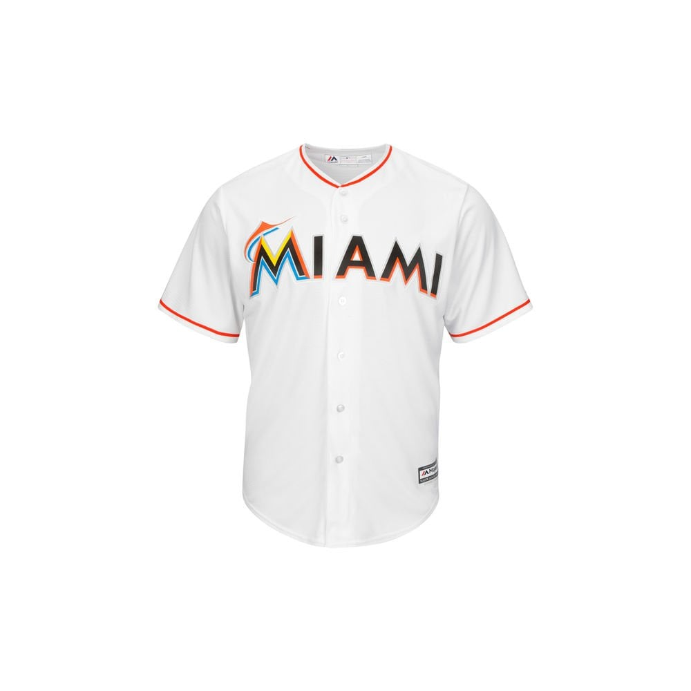 Majestic Athletic MLB Miami Marlins Cool Base Home Jersey - Fan Wear ... dabd249b0