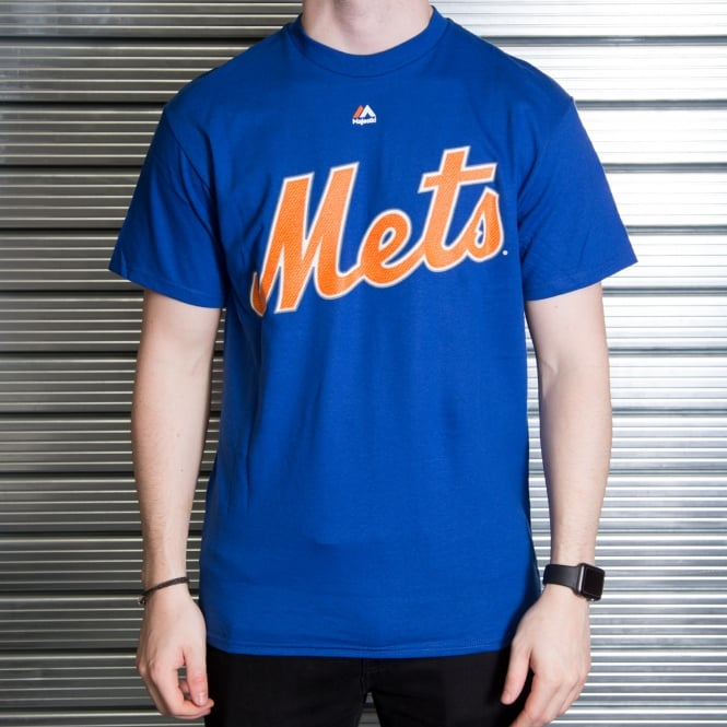 Majestic Athletic MLB New York Mets Noah Syndergaard Royal Official Name and Number T-Shirt