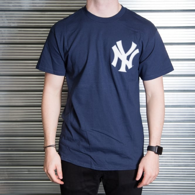 Majestic Athletic MLB New York Yankees Masahiro Tanaka Navy Official Name and Number T-Shirt