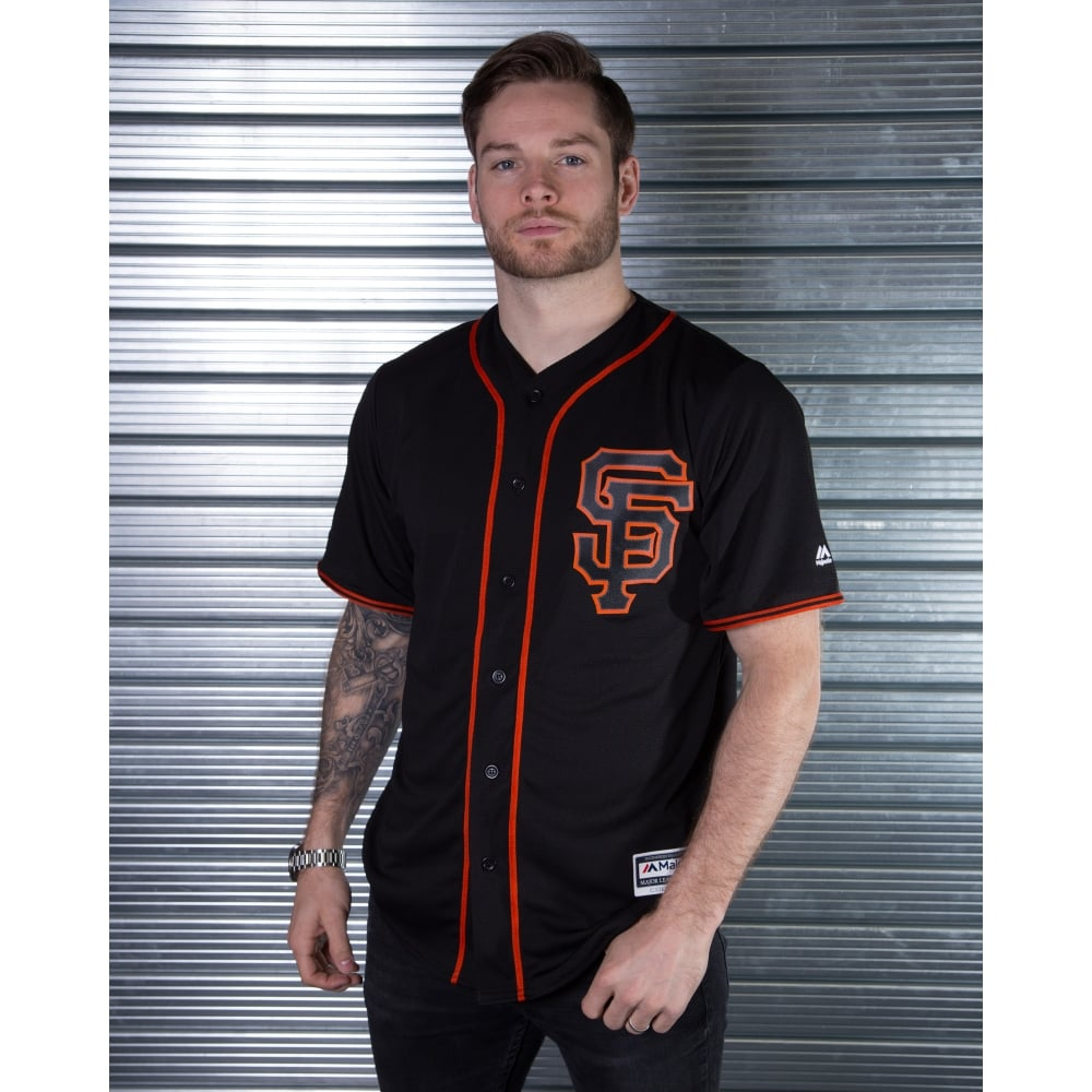 premium selection 711cc 62a95 Majestic Athletic MLB San Francisco Giants Black Cool Base Jersey