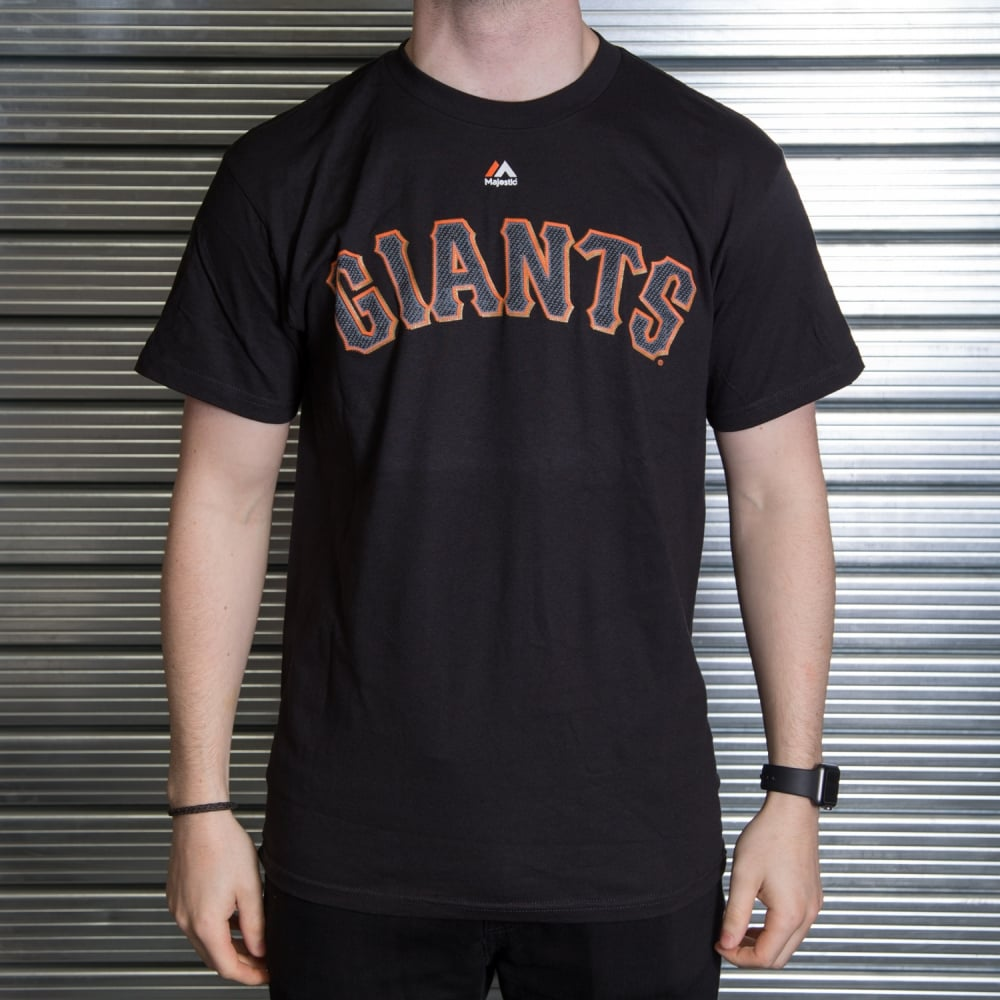 newest 5bf29 6ee30 MLB San Francisco Giants Matt Cain Black Official Name and Number T-Shirt