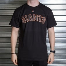 MLB San Francisco Giants Matt Cain Black Official Name and Number T-Shirt
