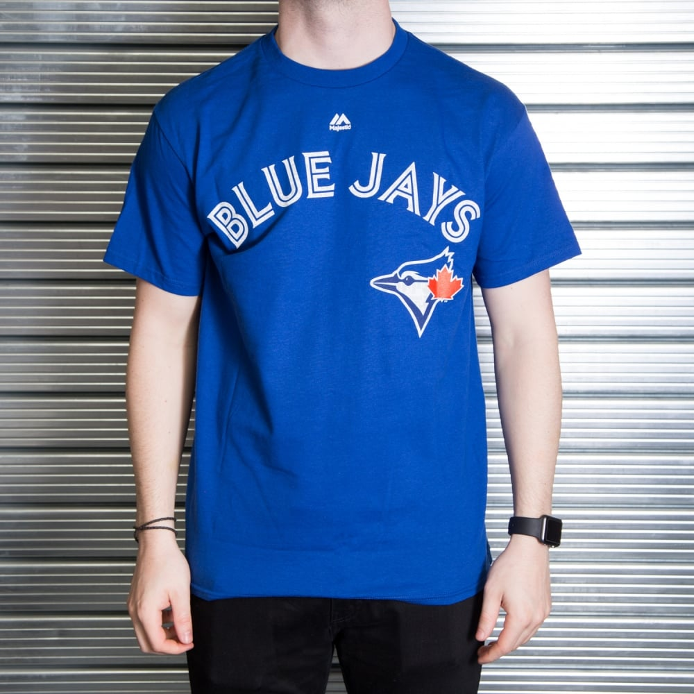pretty nice cb6cc 2a355 MLB Toronto Blue Jays Jose Bautista Royal Official Name and Number T-Shirt
