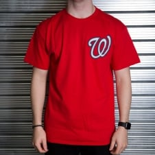 MLB Washington Nationals Bryce Harper Red Official Name and Number T-Shirt