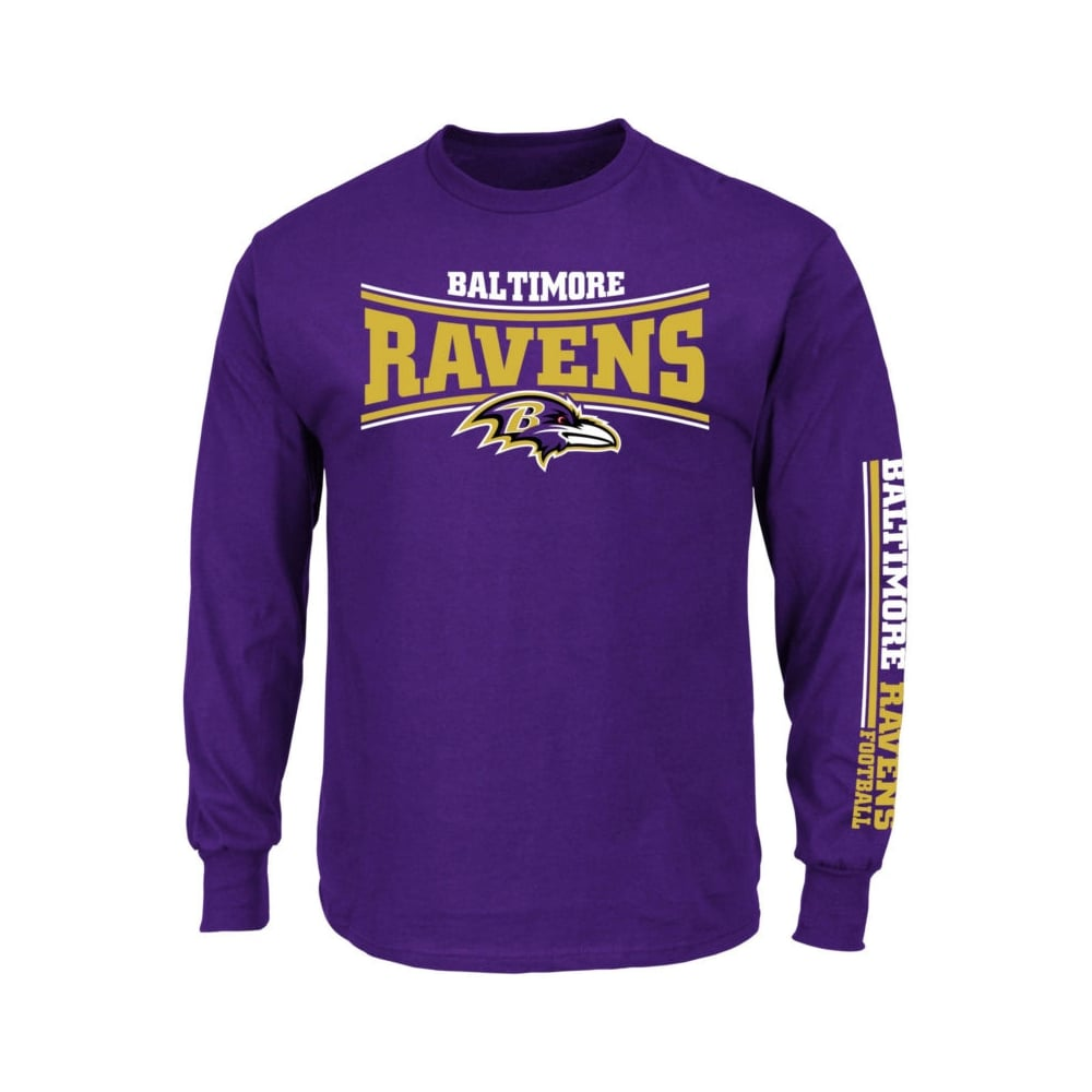 10a5915ca57 Majestic Athletic NFL Baltimore Ravens Primary Receiver Long Sleeve ...