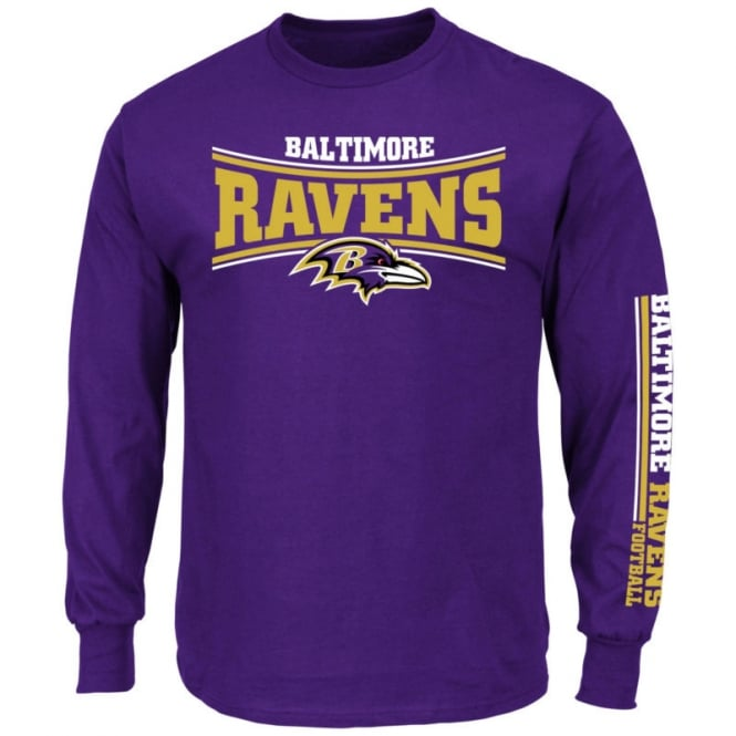 Majestic Athletic NFL Baltimore Ravens Primary Receiver Long Sleeve T-Shirt