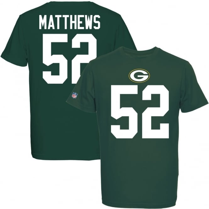 Majestic Athletic NFL Green Bay Packers Clay Matthews Eligible Receiver T-Shirt