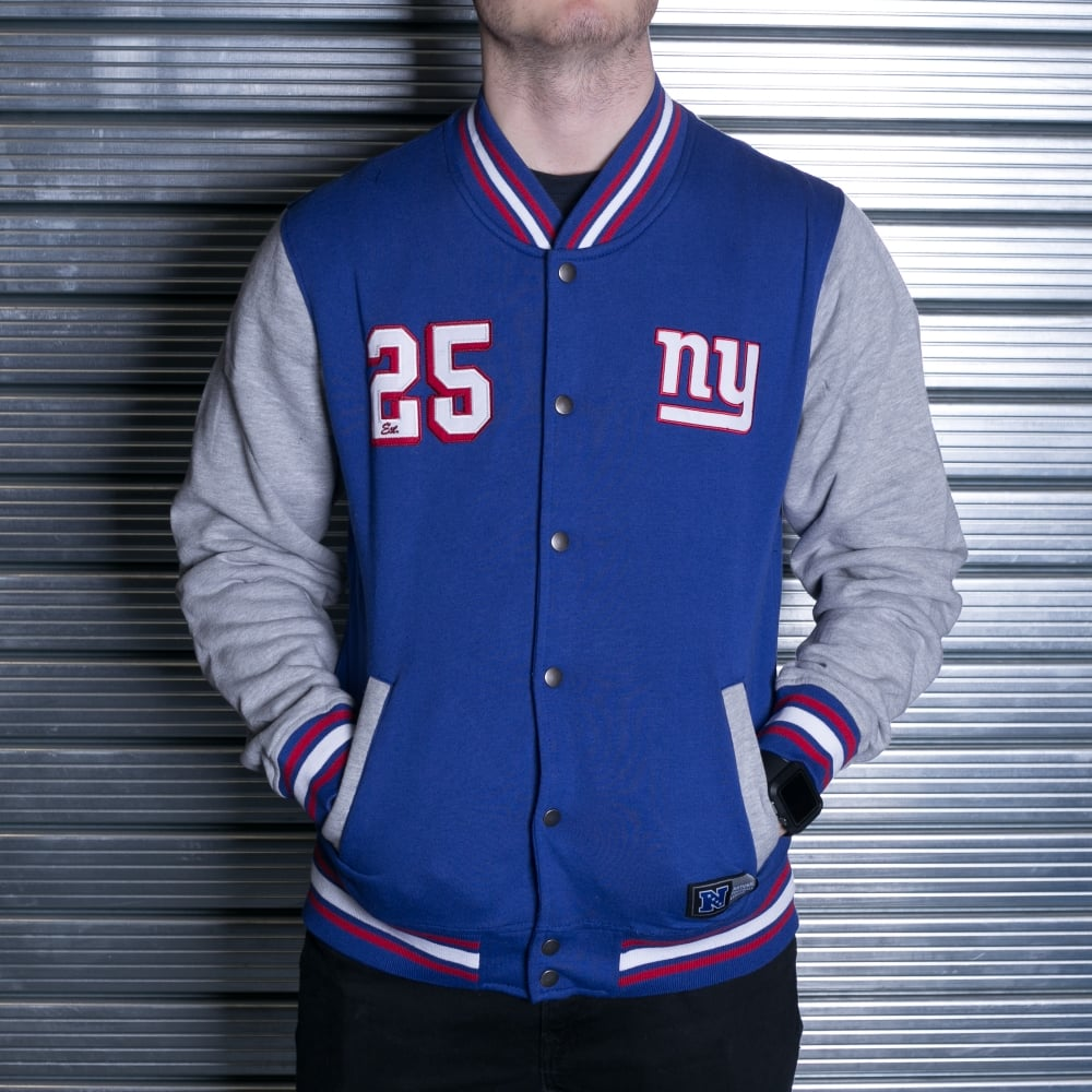 brand new dd463 c7a54 NFL New York Giants Cotland Fleece Letterman Jacket