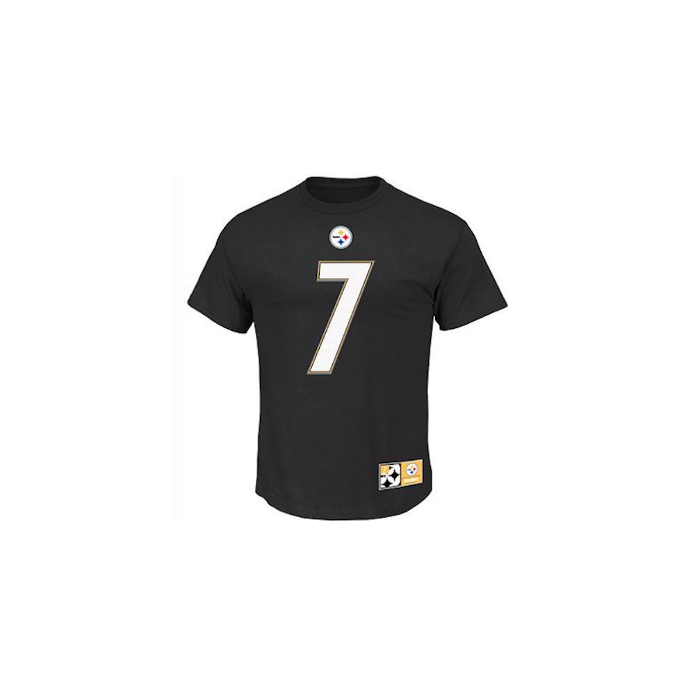 54070aa2efd NFL Pittsburgh Steelers Ben Roethlisberger Player Name And Number T-Shirt