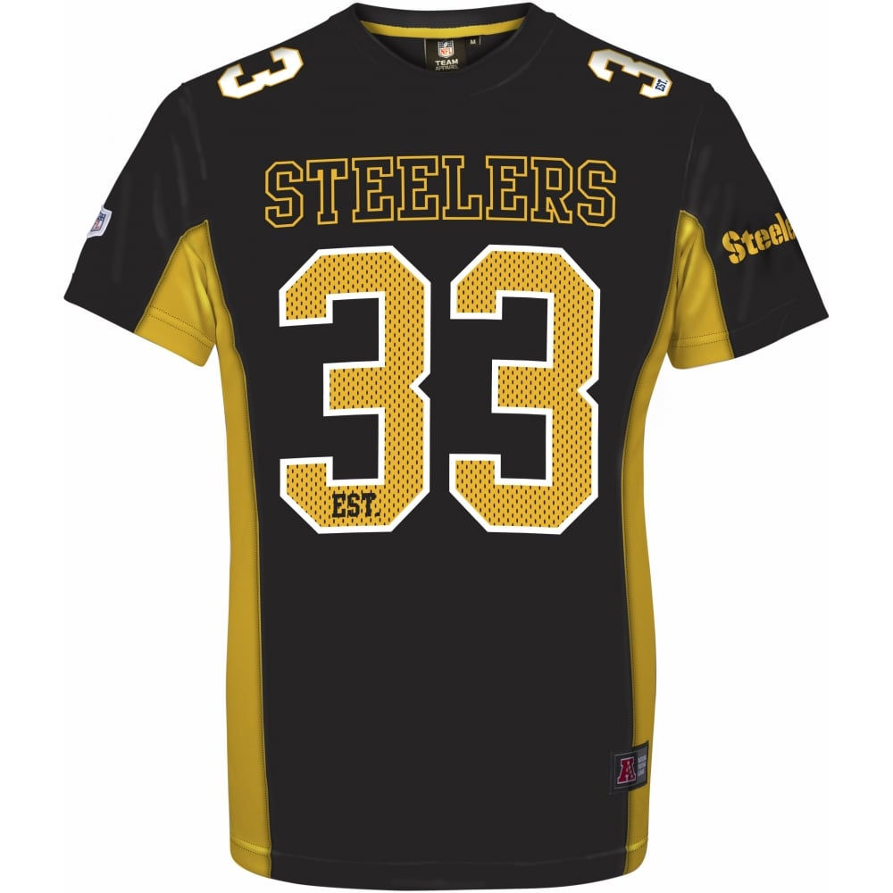 f403ef9fb55 Majestic Athletic NFL Pittsburgh Steelers Moro Poly Mesh T-Shirt ...