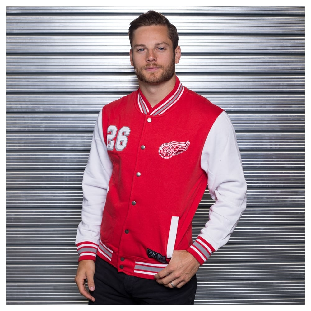 583833d53ef Majestic Athletic NHL Detroit Red Wings Cotland Fleece Letterman ...