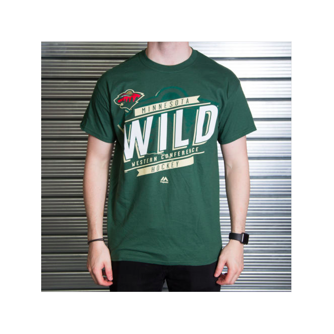 Majestic Athletic NHL Minnesota Wild Earn Each Play T-Shirt