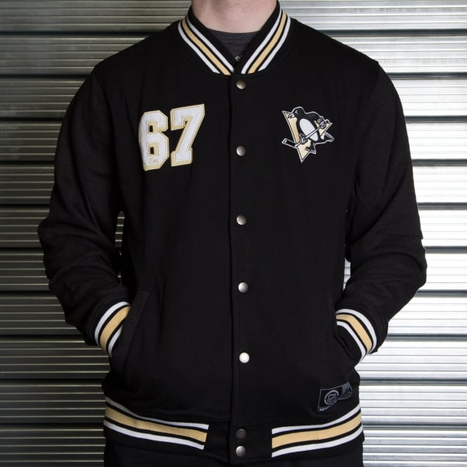 Majestic Athletic NHL Pittsburgh Penguins Cotland Fleece Letterman Jacket
