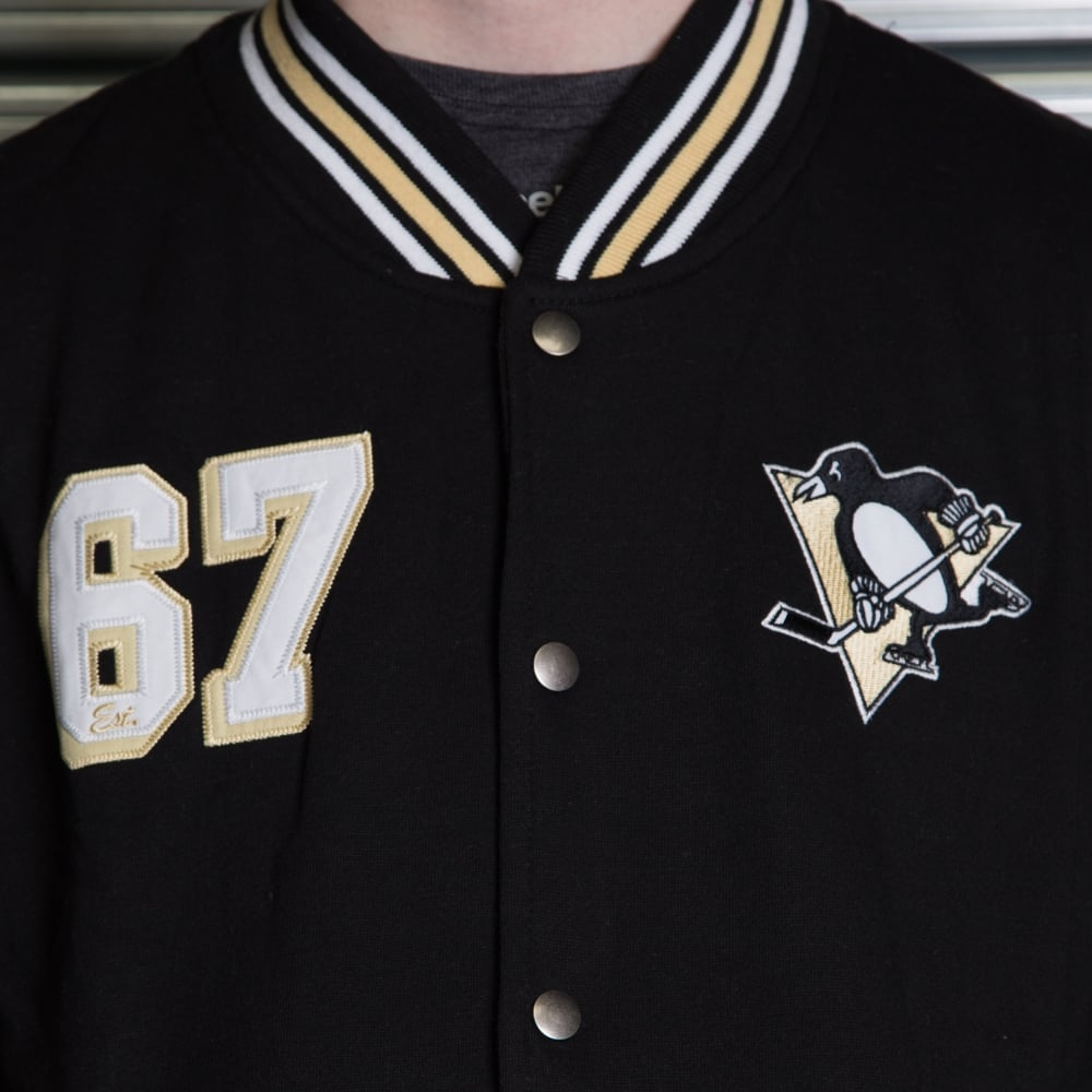 082ced55522 Majestic Athletic NHL Pittsburgh Penguins Cotland Fleece Letterman ...