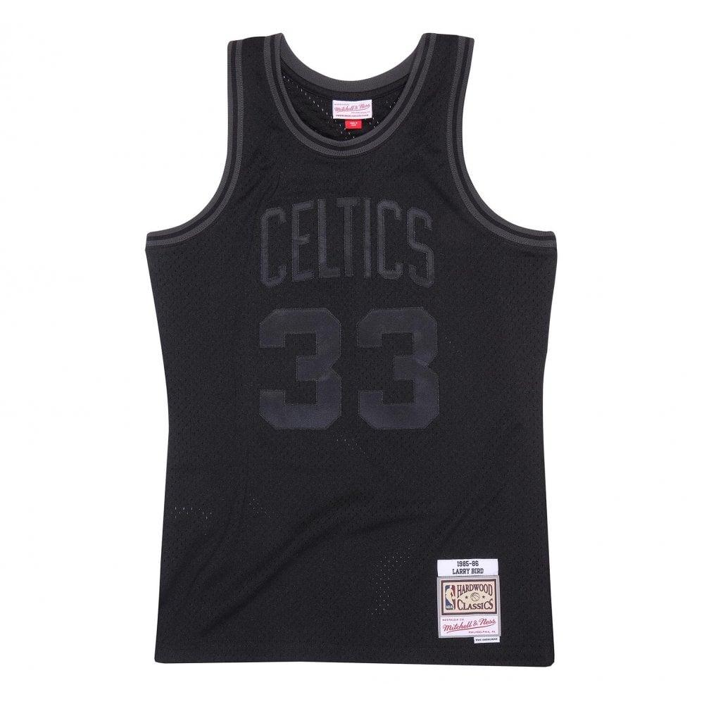 uk availability 2631b 92344 NBA Boston Celtics Larry Bird 1985-86 Back to Black Swingman Jersey
