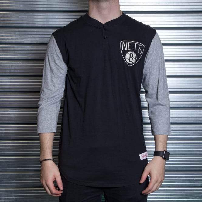 Mitchell & Ness NBA Brooklyn Nets Henley T-Shirt