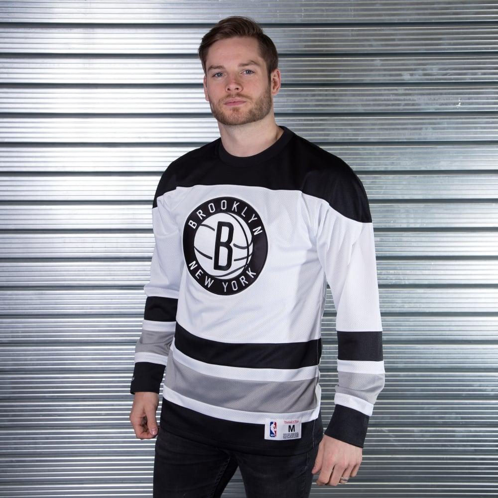 online retailer 0f2a2 bedc8 NBA Brooklyn Nets Mesh Longsleeve Sweater