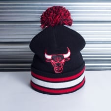 NBA Chicago Bulls Blackout Team Stripe Pom Knit