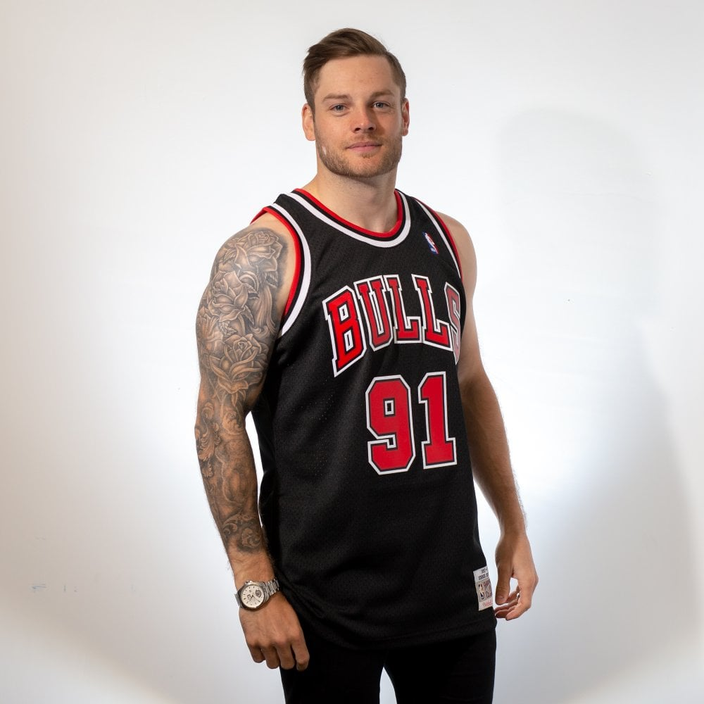 the best attitude 82a35 0342a NBA Chicago Bulls Dennis Rodman 1997-98 Swingman Jersey Black