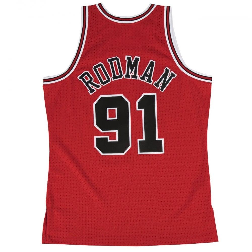 quality design 9d67d b0b5a NBA Chicago Bulls Dennis Rodman 1997-98 Swingman Jersey Red