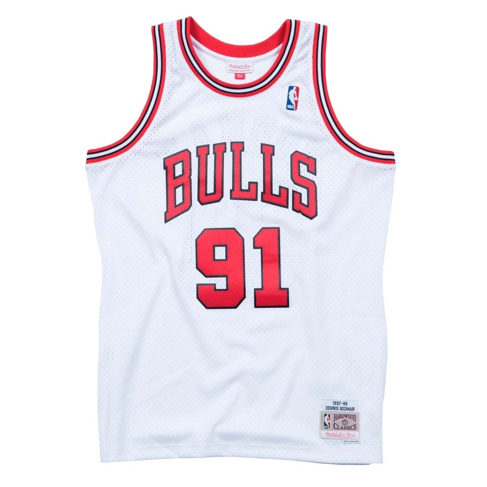 huge discount f6535 38be2 NBA Chicago Bulls Dennis Rodman 1997-98 Swingman Jersey White