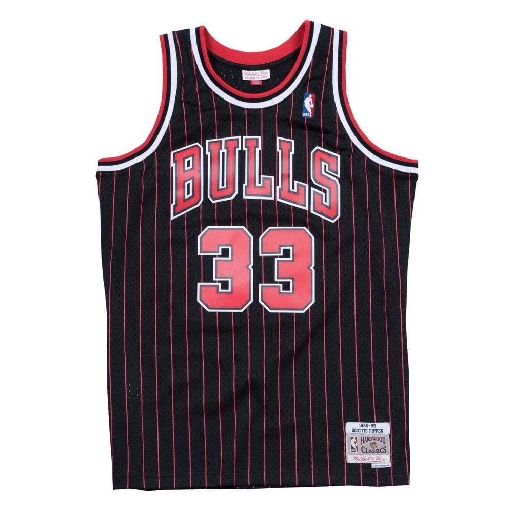 ... ebay nba chicago bulls scottie pippen 1995 96 swingman jersey black  pinstripe 6f199 f773d ec1096798