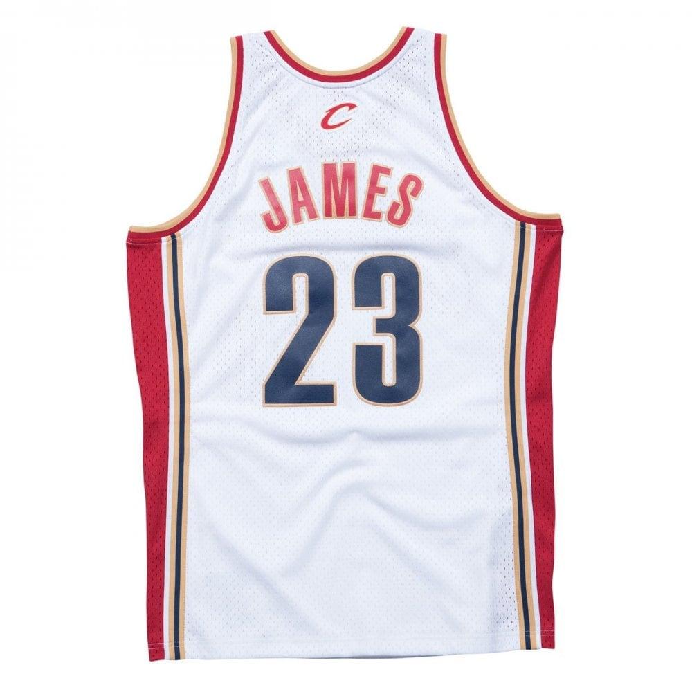 buy popular 77bd5 41baf NBA Cleveland Cavaliers LeBron James 2003-2004 Swingman Jersey White