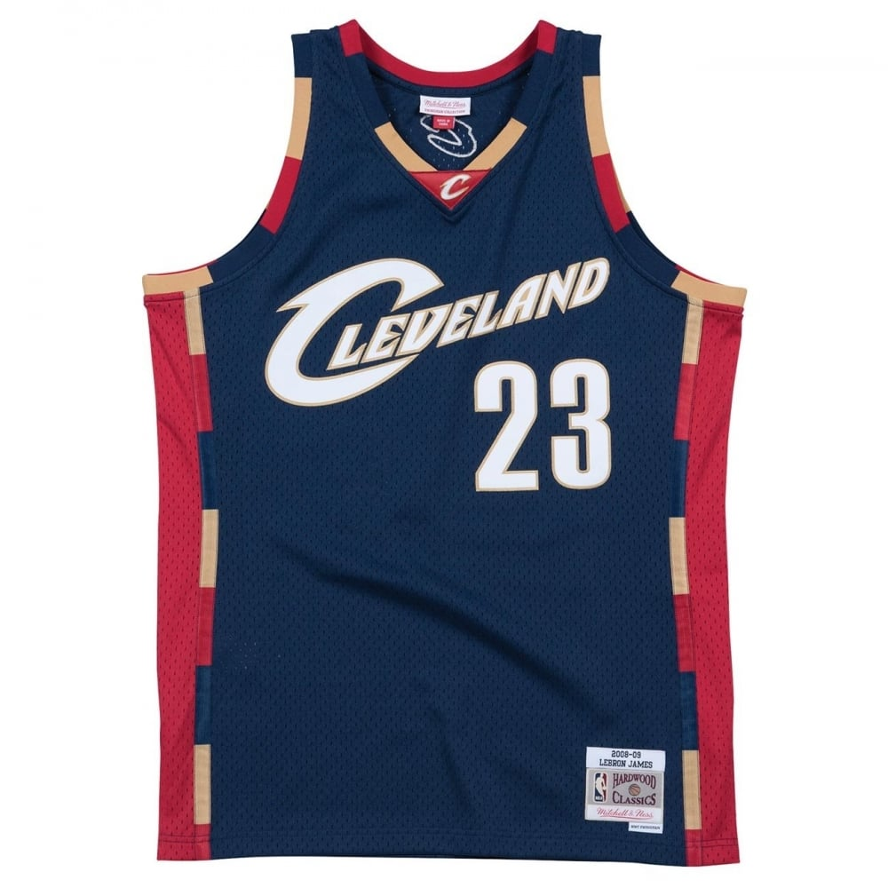 17232a186 Mitchell   Ness NBA Cleveland Cavaliers LeBron James 2008-2009 Navy ...