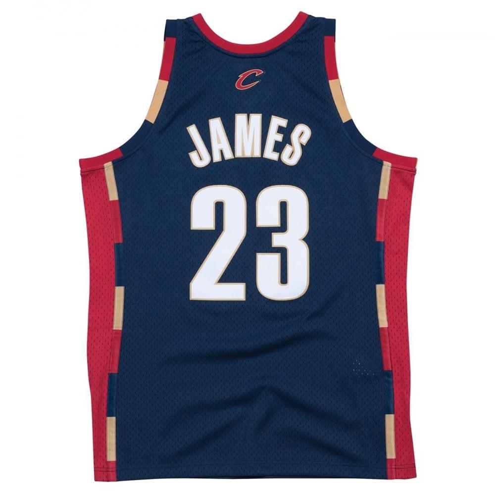 wholesale dealer 3ae81 82a7e NBA Cleveland Cavaliers LeBron James 2008-2009 Navy Swingman Jersey