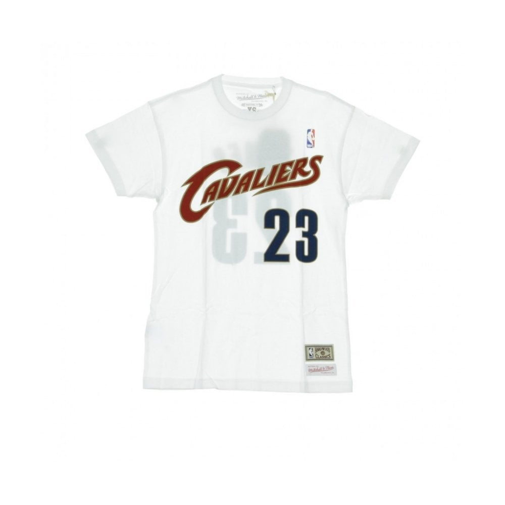 finest selection 55116 6447d Mitchell & Ness NBA Clveland Cavaliers Name & Number Tailored T-Shirt -  Lebron James