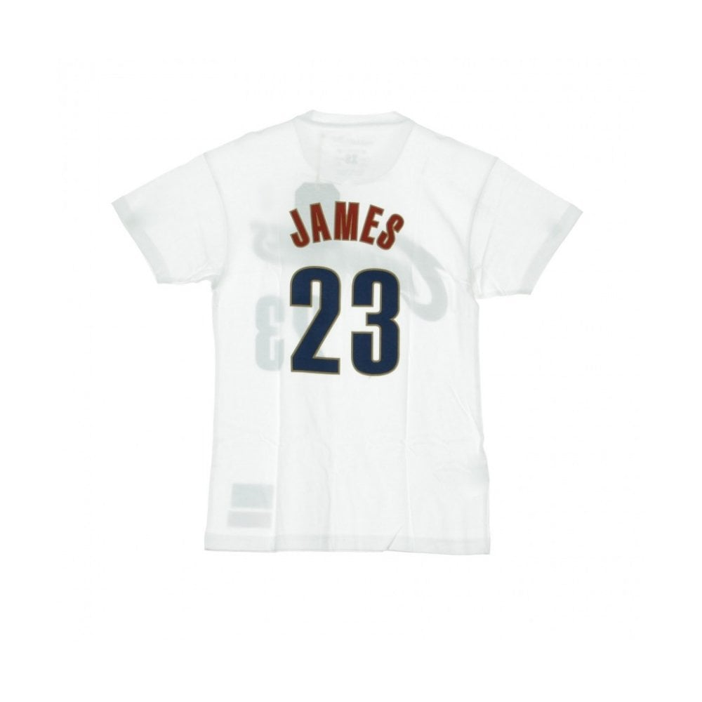 finest selection 79d3a 09941 Mitchell & Ness NBA Clveland Cavaliers Name & Number Tailored T-Shirt -  Lebron James