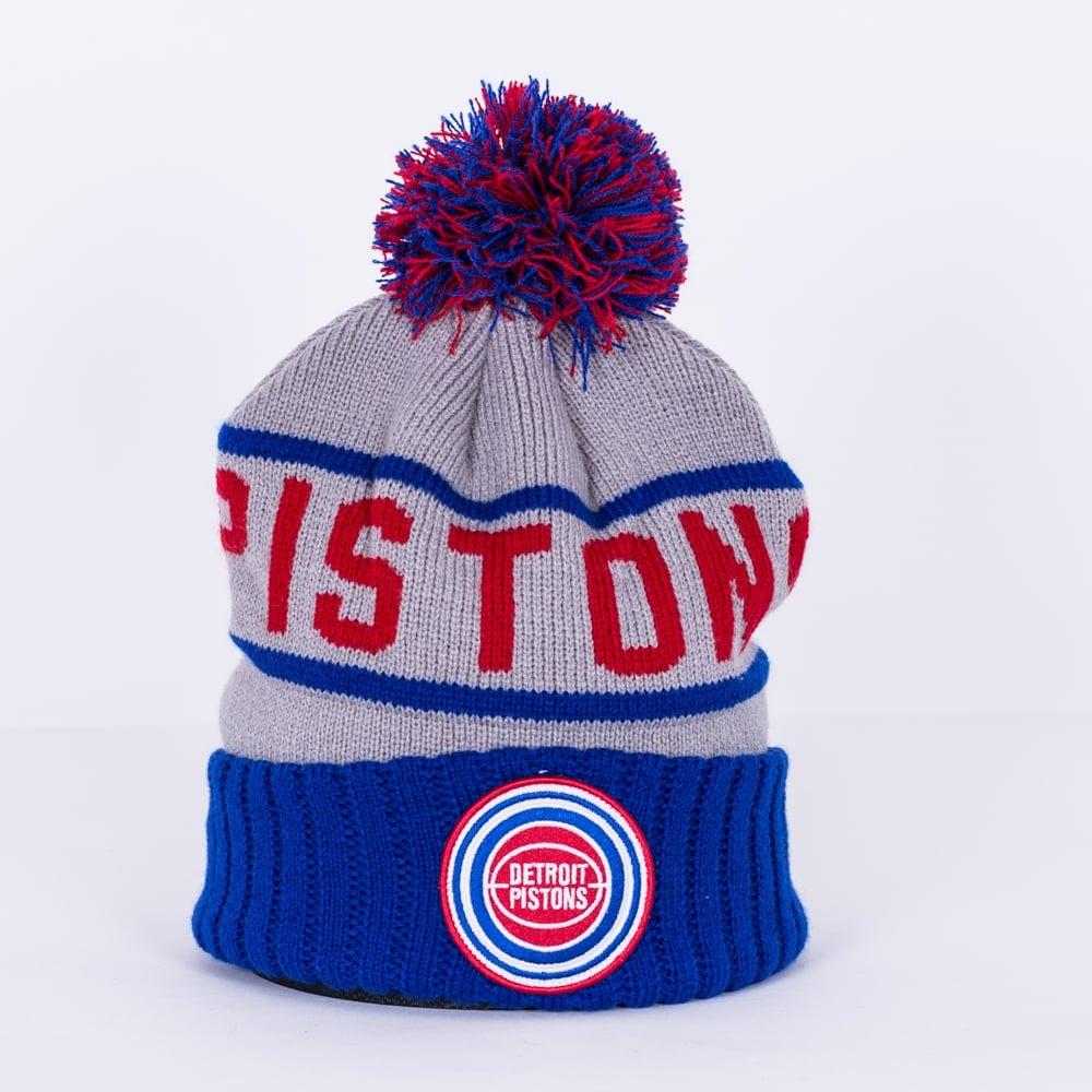 851f7a628d5 Mitchell   Ness NBA Detroit Pistons High 5 Cuff Pom Knit - Teams ...