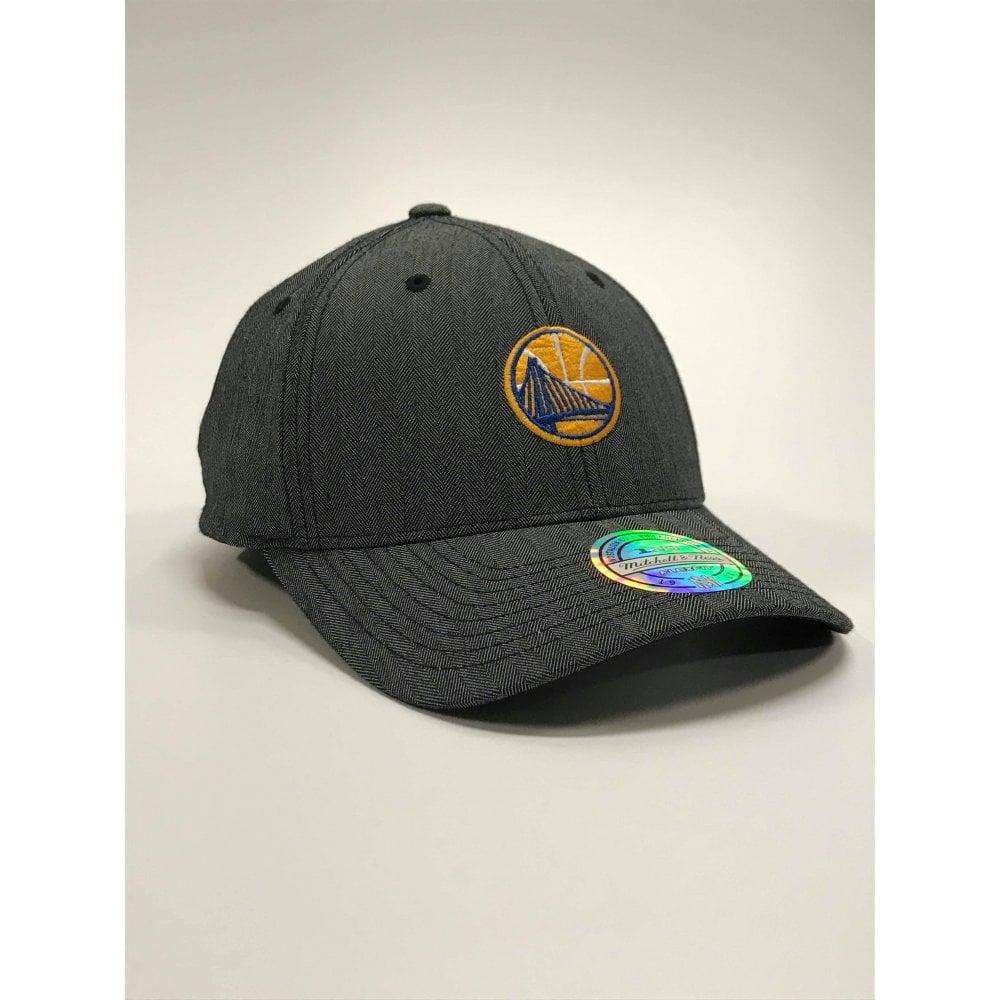 2d0590ee Mitchell & Ness NBA Golden State Warriors Poly Heringbone Snapback ...