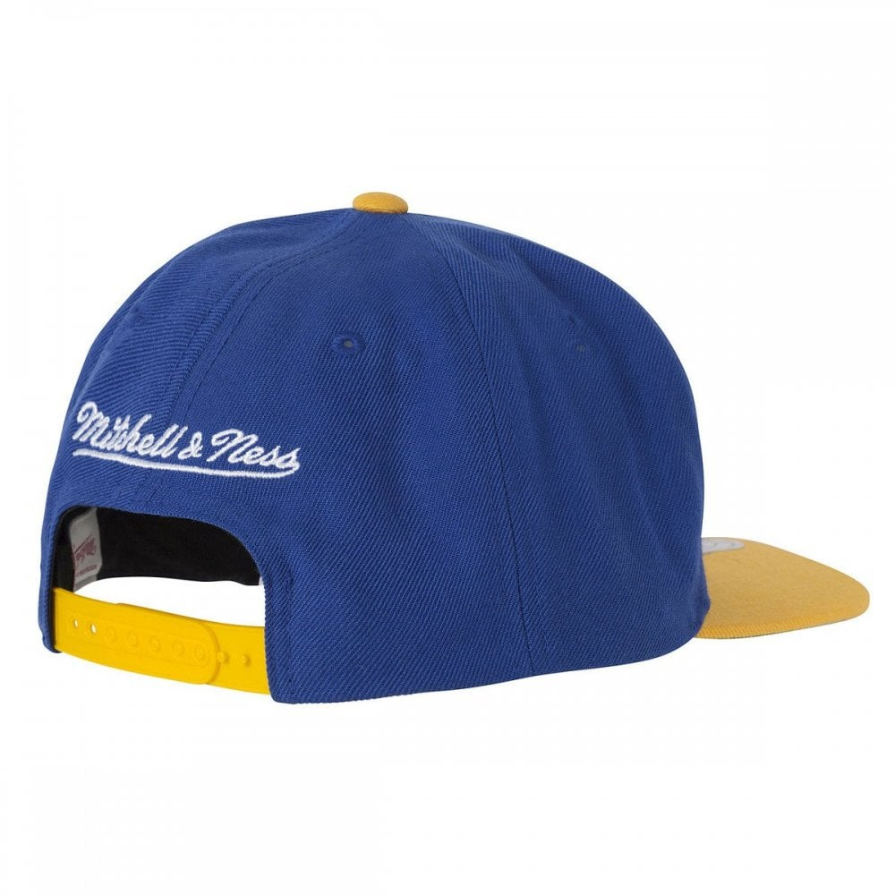 3fead2a08 Mitchell & Ness NBA Golden State Warriors XL Logo 2 Tone Snapback