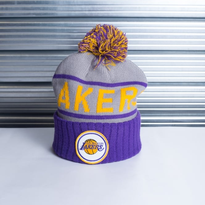 Mitchell & Ness NBA Los Angeles Lakers High 5 Cuff Pom Knit
