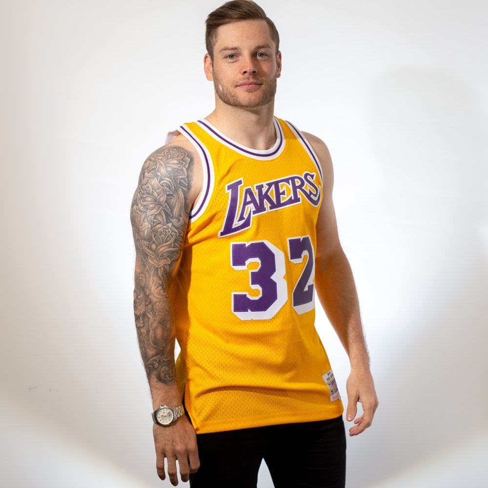 28e5d6f0d9f Mitchell & Ness NBA Los Angeles Lakers Magic Johnson 1984-85 ...