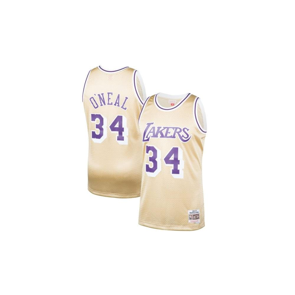NBA Los Angeles Lakers Shaquille O  039 Neal 1996-97 Swingman Jersey Gold aae27c7af