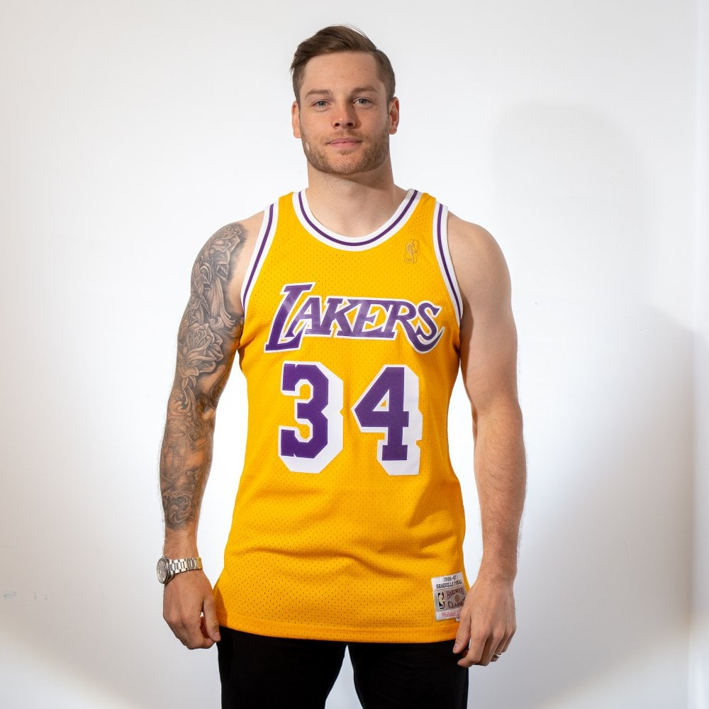 933d329a699c NBA Los Angeles Lakers Shaquille O  039 Neal 1996-97 Swingman Jersey
