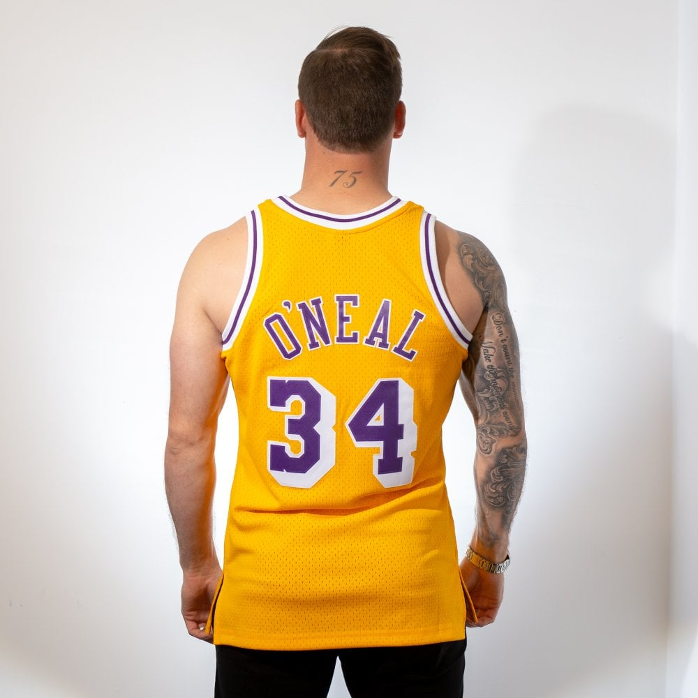 a2475767c002 NBA Los Angeles Lakers Shaquille O  039 Neal 1996-97 Swingman Jersey