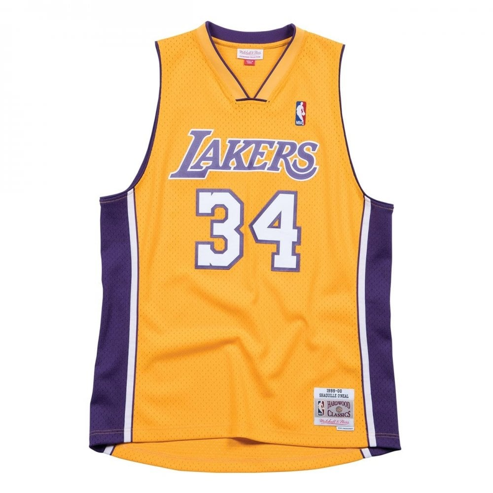 huge discount b5e2d 2e72c NBA Los Angeles Lakers Shaquille O'Neal 1999-00 Swingman Jersey