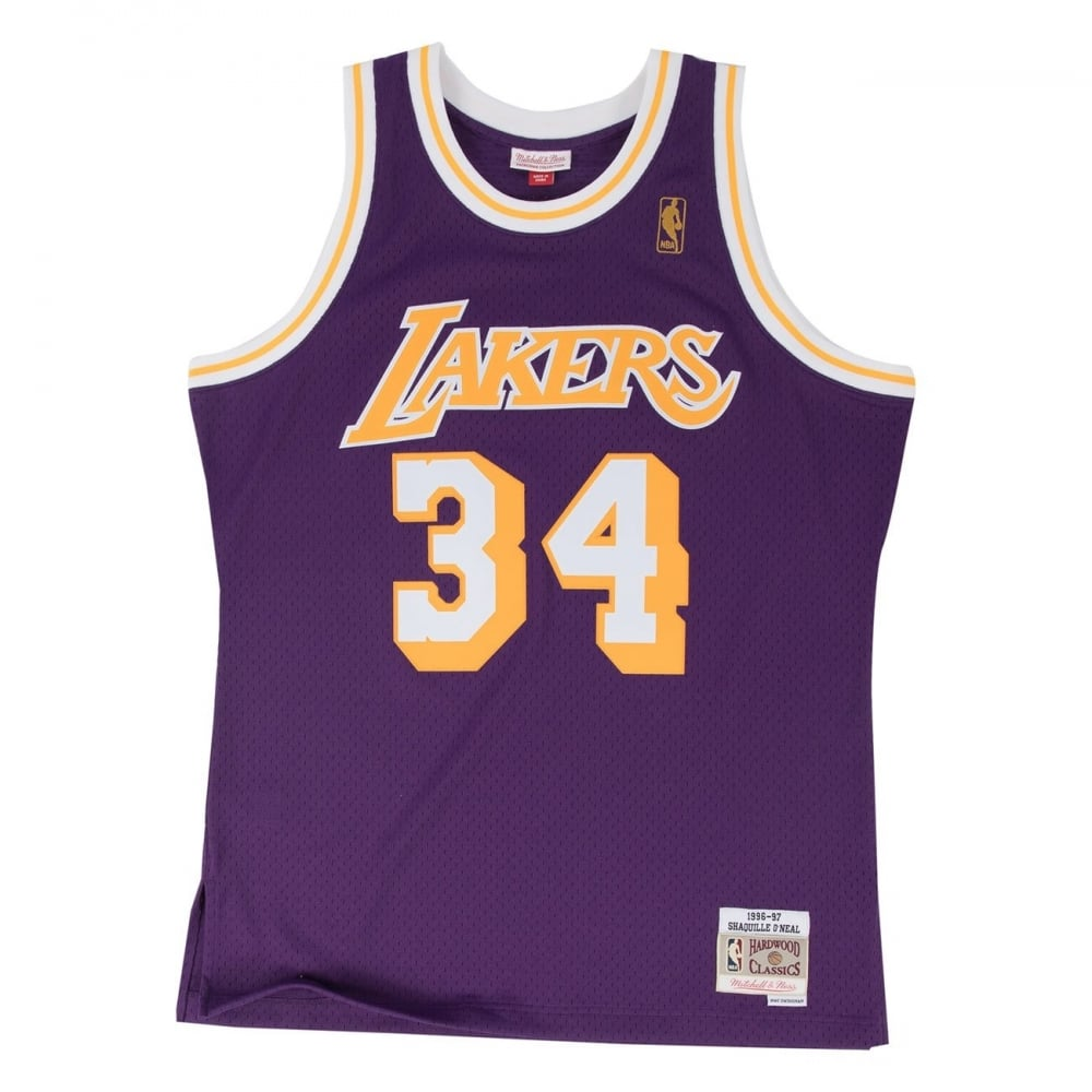 87b82234a4d5 NBA Los Angeles Lakers Shaquille O  039 Neal Purple 1996-97 Swingman Jersey