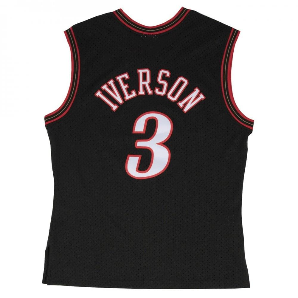 sports shoes 808c8 b305b NBA Philadelphia 76ers Allen Iverson 2000-2001 Black Swingman Jersey