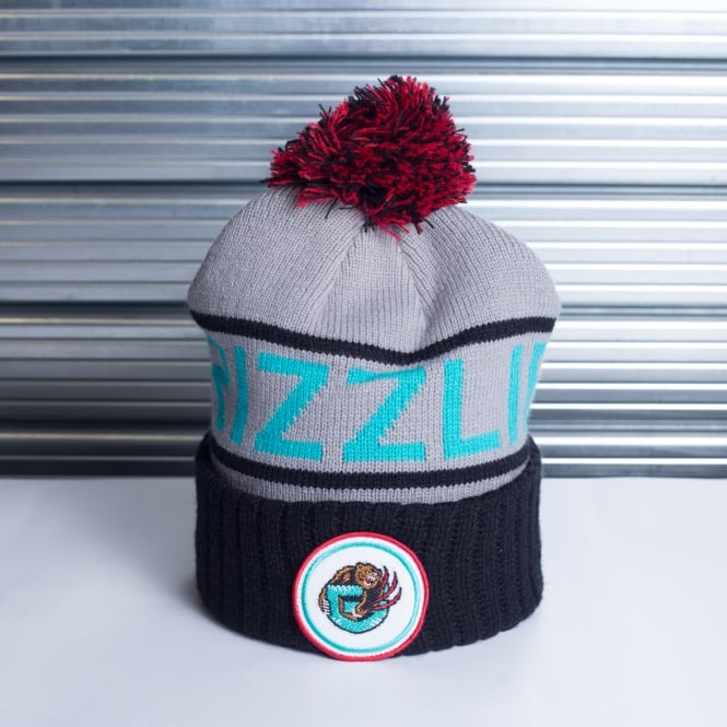 Mitchell & Ness NBA Vancouver Grizzlies High 5 Cuff Pom Knit