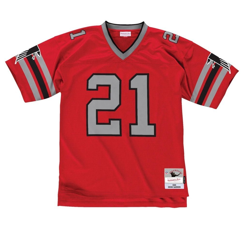 sale retailer 407eb 8243e NFL Atlanta Falcons Deion Sanders 1989 Red Legacy Jersey