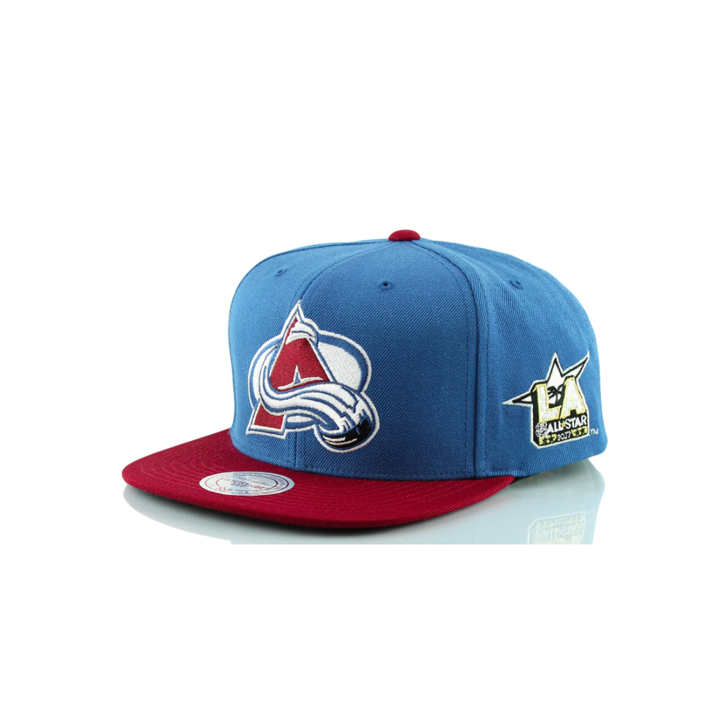 Mitchell   Ness NHL Colorado Avalanche 2017 Snapback Cap - Headwear ... 8685cd318c5